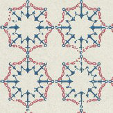 Barneby Gates Anchor Tile Red/ White/ Blue Wallpaper