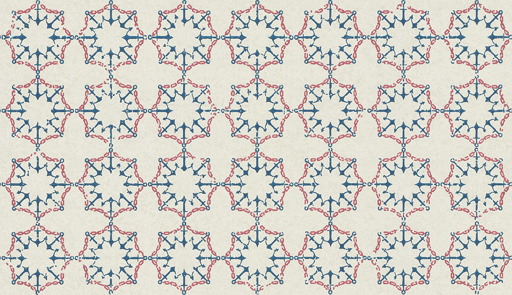 Anchor Tile Red/ White/ Blue