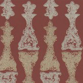 Barneby Gates Chess Burgundy Gold / Burgundy Wallpaper - Product code: BG1000201
