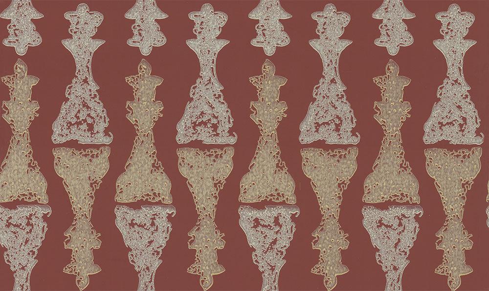 Barneby Gates Chess Burgundy Gold / Burgundy Wallpaper main image