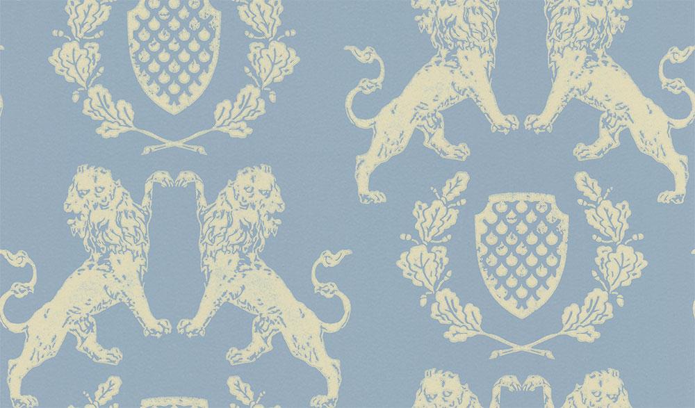 Barneby Gates Heraldic Lion Wedgewood Blue  Wedgwood Blue Wallpaper - Product code: BG1100101