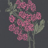 Barneby Gates Autumn-Berry Blackberry Pink / Green / Charcoal Wallpaper - Product code: BG1100201