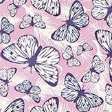 Hattie Lloyd Free to Fly - Lilac Butterflies Lilac / Pink Wallpaper