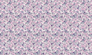 Image of Hattie Lloyd Wallpapers Free to Fly - Lilac Butterflies, HLFTF01