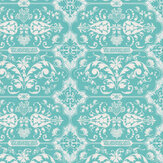 Hattie Lloyd Kensington Chic - Turquoise Jewel  Wallpaper - Product code: HLKC01