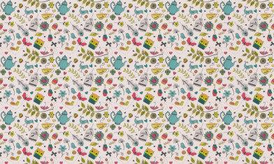 Image of Hattie Lloyd Wallpapers Tea at Hatties - Brightest Summer, HLTAH01