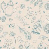 Hattie Lloyd Tea at Hatties - Cream Tea Wallpaper