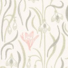 Sandberg Signe White White / Pink Wallpaper - Product code: 403-28