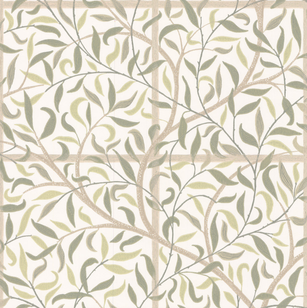 Sandberg Diana Green Green / Beige Wallpaper - Product code: 404-38