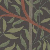 Sandberg Diana Black Green / Brown / Black Wallpaper - Product code: 404-91