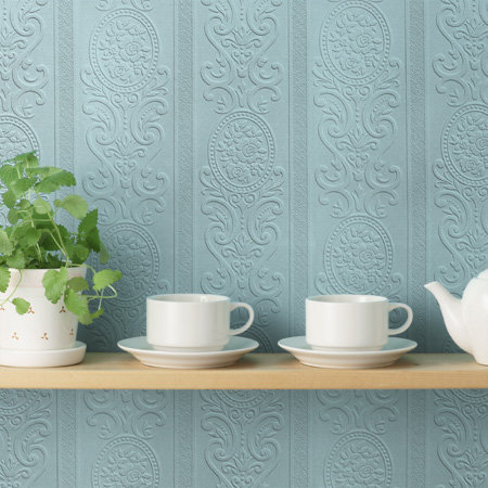 Anaglypta Louisa Textured  White Wallpaper - Product code: RD750