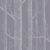 Cole & Son Woods Lilac / Charcoal Wallpaper