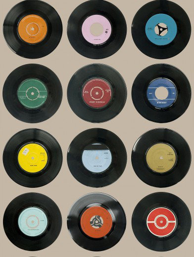 Image of Ella Doran Wallpapers Sevens Taupe, Sevens Taupe