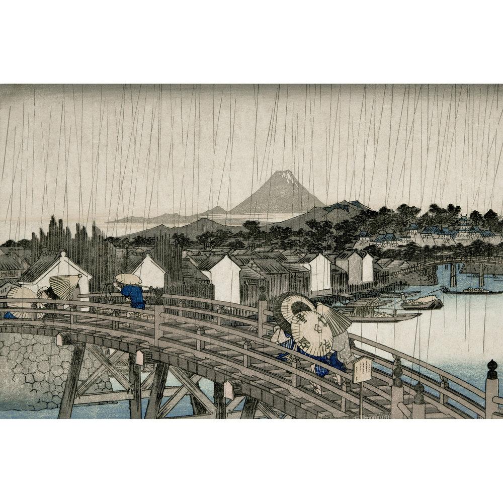 Sandberg Hiroshiges Regnskyar Mural extra image