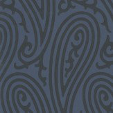 Farrow & Ball Paisley Dark Blue Wallpaper - Product code: BP 4705
