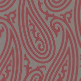 Farrow & Ball Paisley Grey and Berry Red Wallpaper