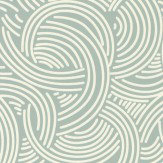 Farrow & Ball Tourbillon Aqua Wallpaper - Product code: BP 4805