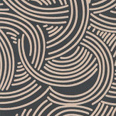 Farrow & Ball Tourbillon Black and Beige Wallpaper