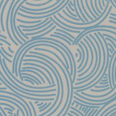 Farrow & Ball Tourbillon Grey and Blue Wallpaper - Product code: BP 4806