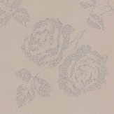 Albany Glitter Roses Taupe Wallpaper