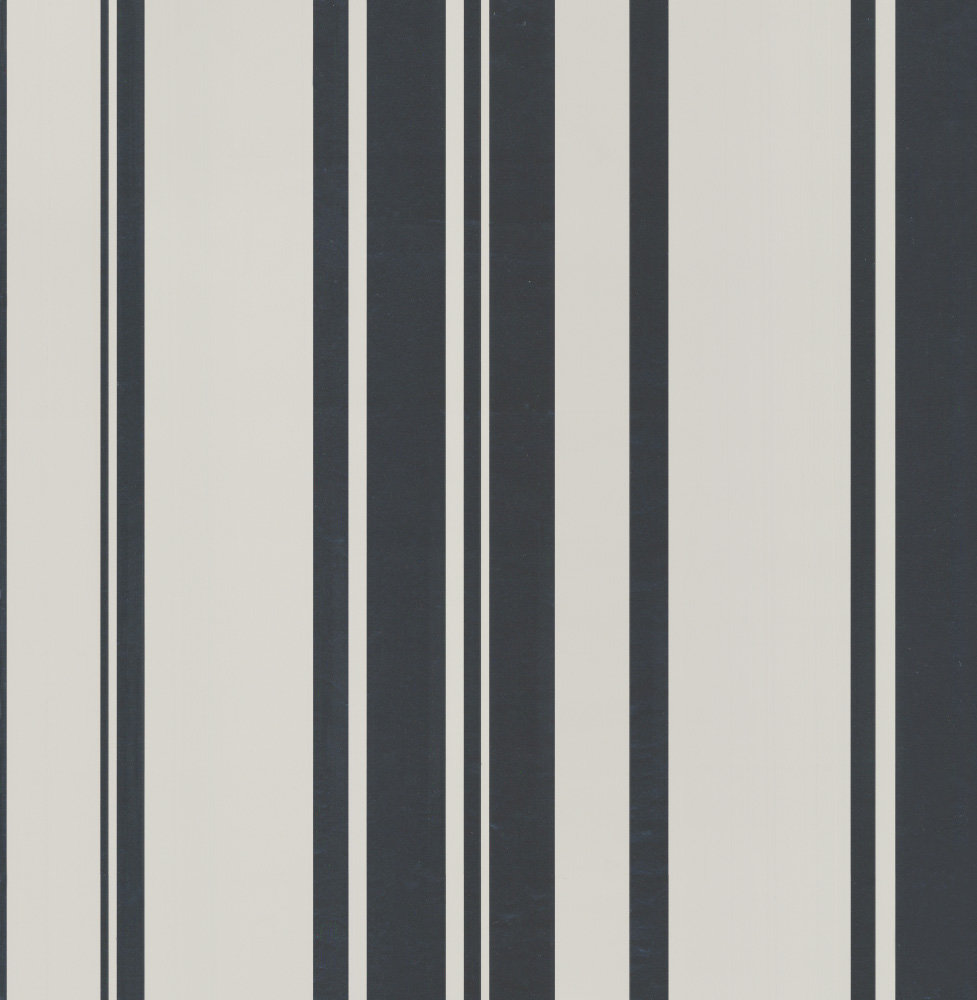 Albany Foil Stripe Silver and Stone Wallpaper - Product code: 40458