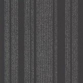 Albany Narrow Stripe Black Wallpaper
