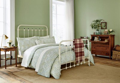 Image of Morris Duvet covers Willow Bough Sage Green Double Duvet, 105205