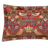 Morris Strawberry Thief Crimson Oxford Pillowcase