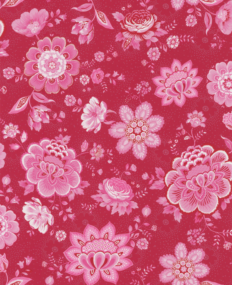 Pip Wallpaper Folklore Chintz Ruby Red Main Image