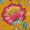 Pip Wallpaper Floral Fantasy Mustard  Yellow Wallpaper