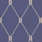 Eijffinger Rope Trellis Navy Wallpaper
