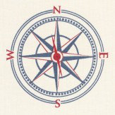 Eijffinger Nautical Compass  Blue Wallpaper