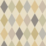 Cole & Son Punchinello Metallics on Linen Wallpaper - Product code: 103/2008