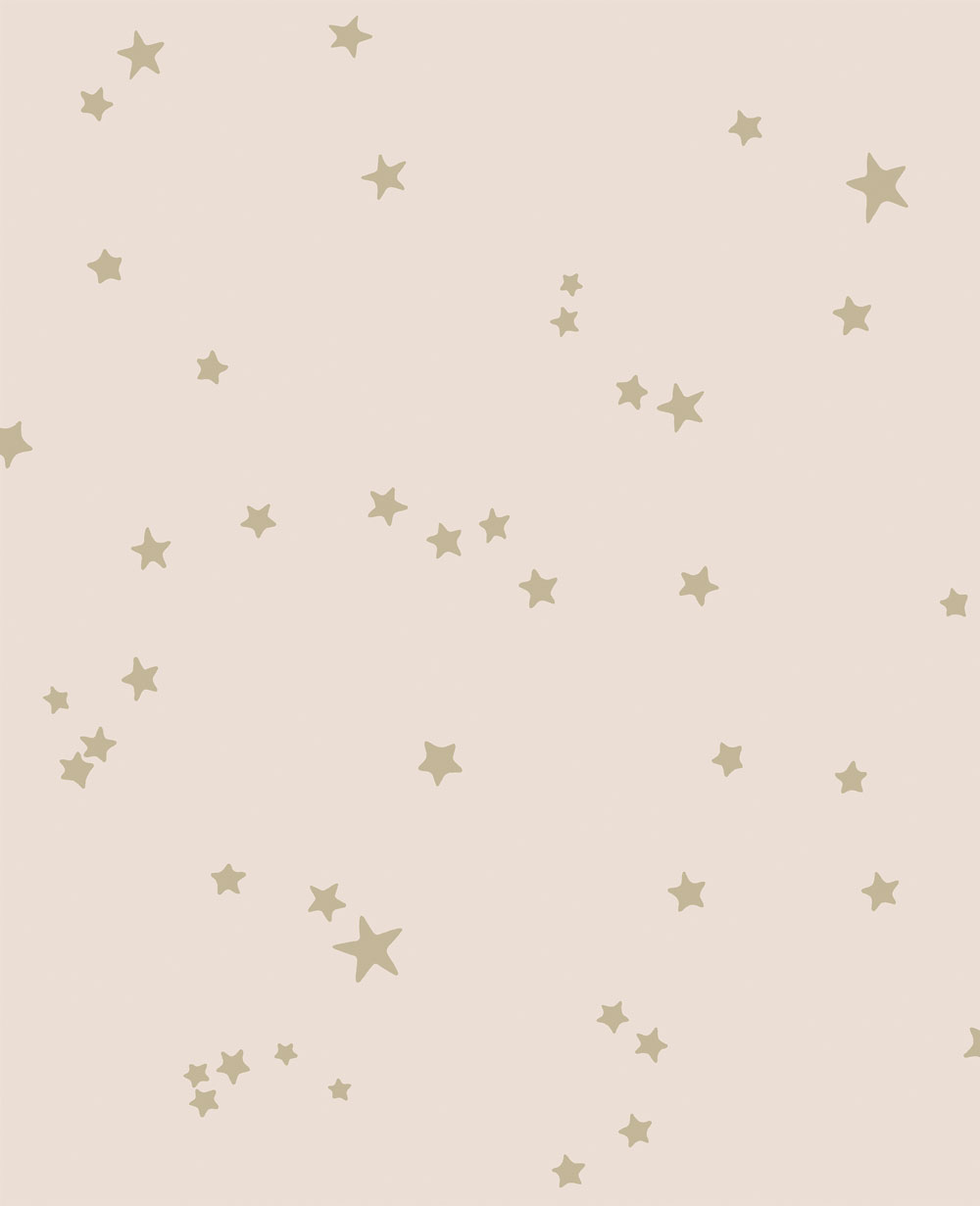Cole Son Stars Pink Gold Wallpaper Main Image
