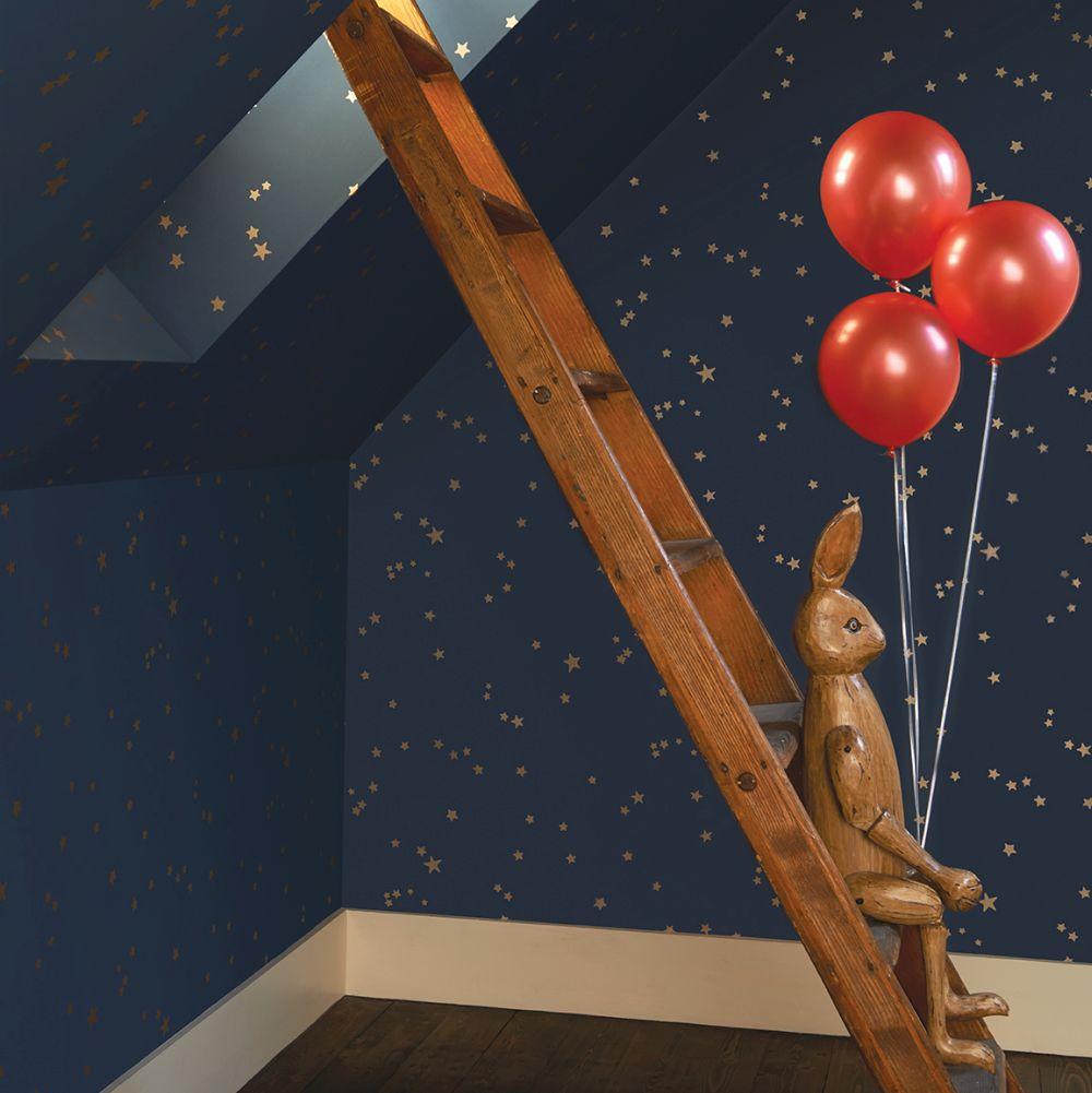 Cole & Son Stars Midnight Blue Wallpaper extra image