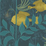 Cole & Son Nautilus Dark Blue Wallpaper
