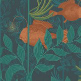 Cole & Son Nautilus Dark Green Wallpaper