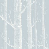 Cole & Son Woods Powder Blue Wallpaper