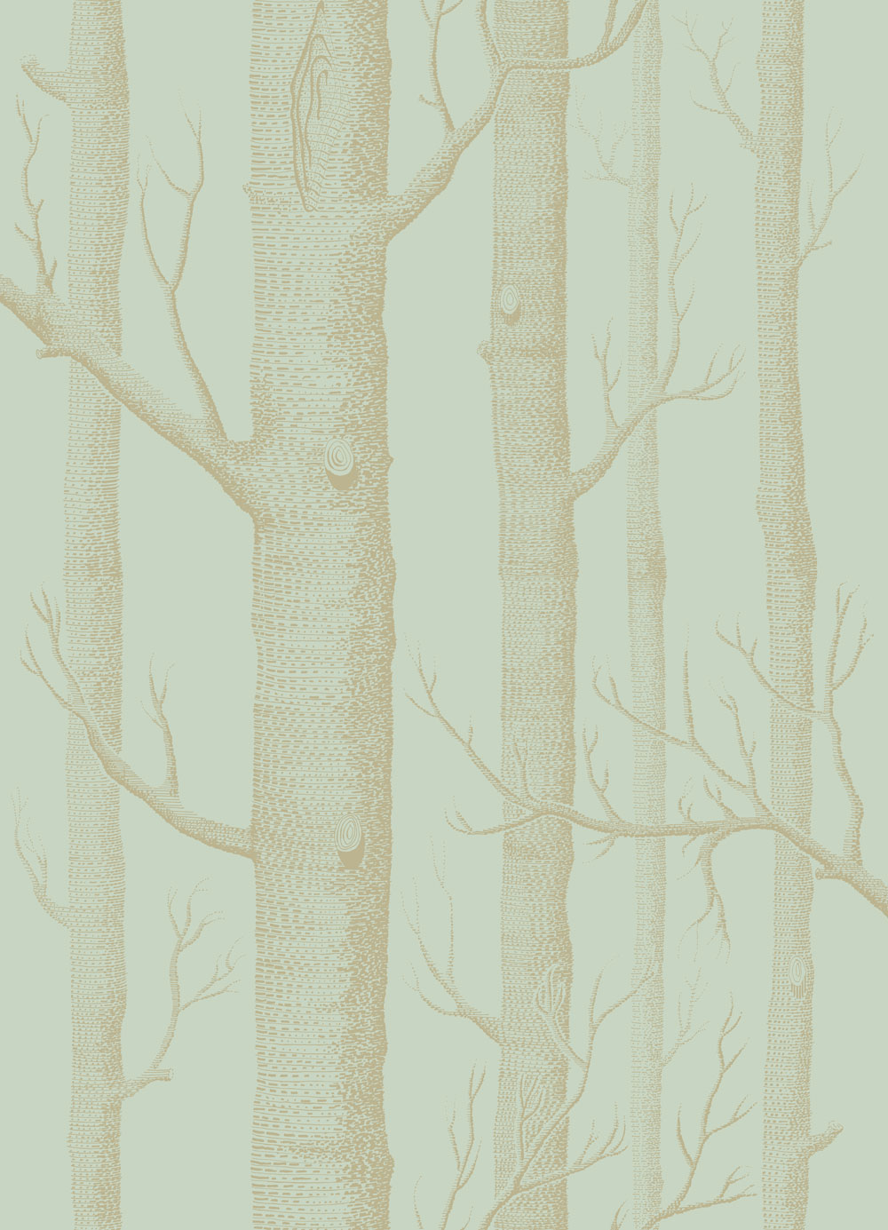 Woods by Cole & Son - Green & Gold : Wallpaper Direct