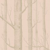 Cole & Son Woods Pink and Gilver Wallpaper
