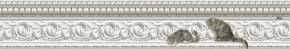 Paddy and Louis Wallpaper - Grey & White - by Cole & Son