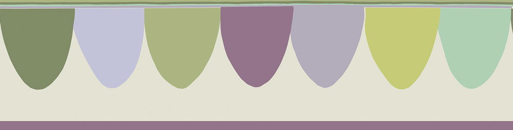 Scaramouche Border - Purple and Green - by Cole & Son