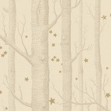 Cole & Son Woods and Stars Buff & Gold Wallpaper - Product code: 103/11049