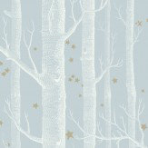 Cole & Son Woods and Stars Powder Blue Wallpaper