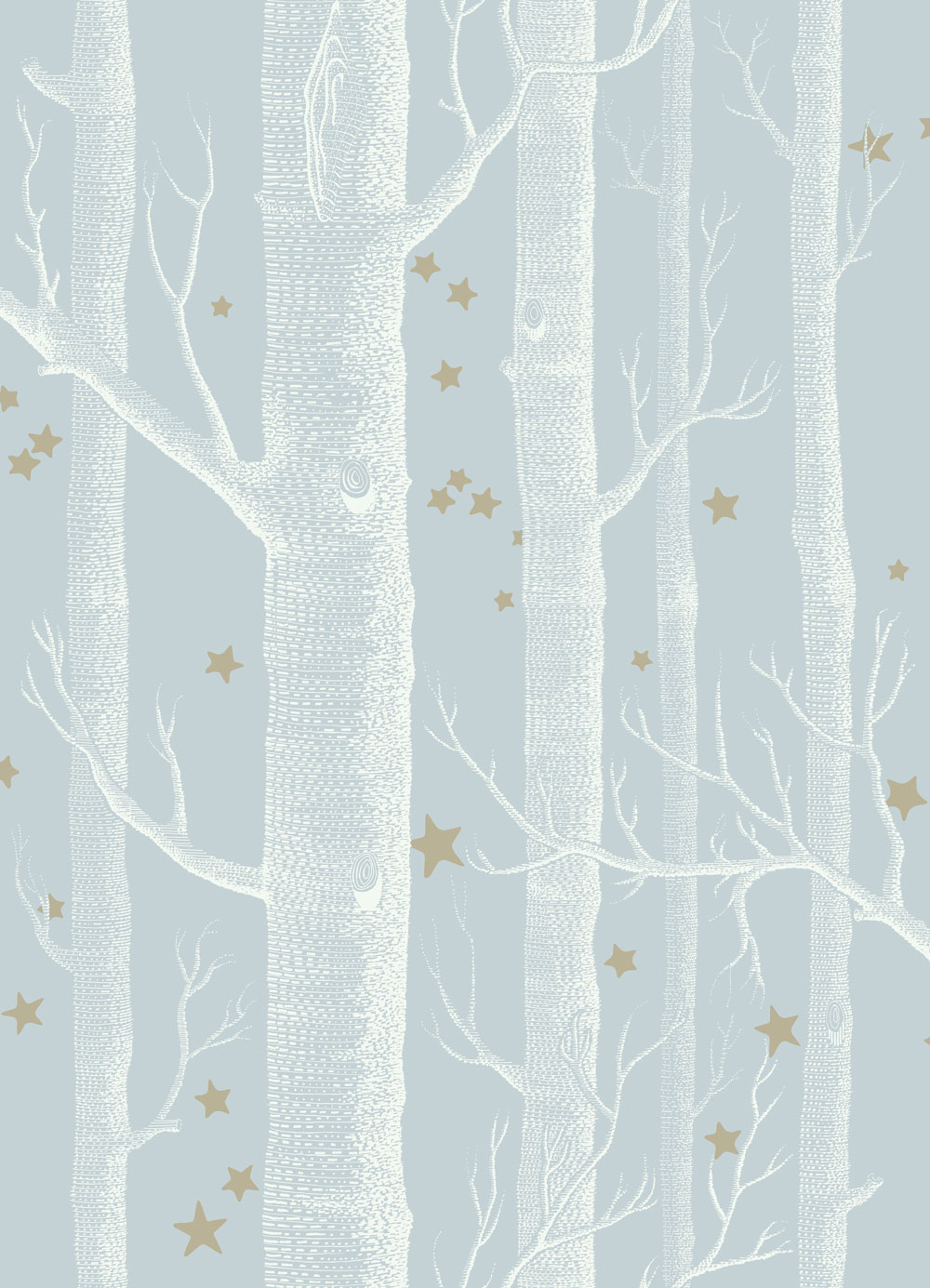 Woods and Stars by Cole & Son - Powder Blue : Wallpaper Direct