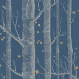 Cole & Son Woods and Stars Midnight Blue Wallpaper
