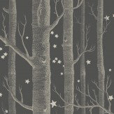 Cole & Son Woods and Stars Charcoal Wallpaper