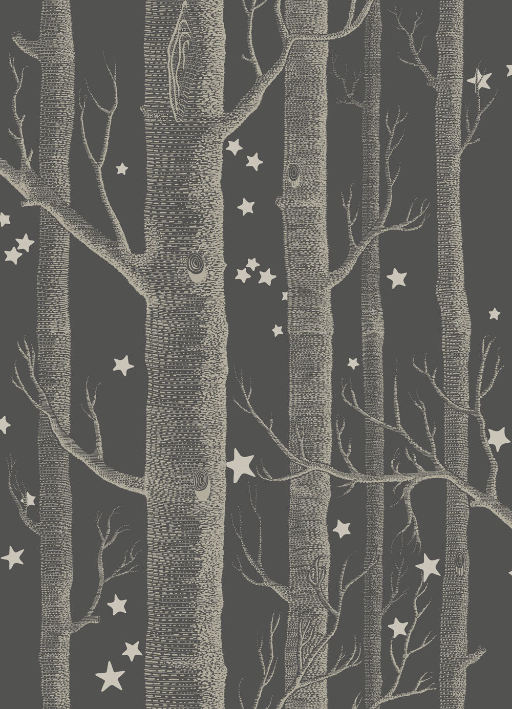 woods and stars by cole son charcoal wallpaper direct. Black Bedroom Furniture Sets. Home Design Ideas