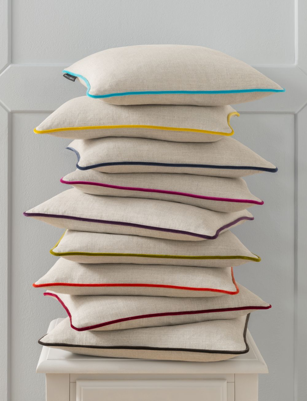 Clarke & Clarke Lindow Cushion Linen & Bluebird extra image