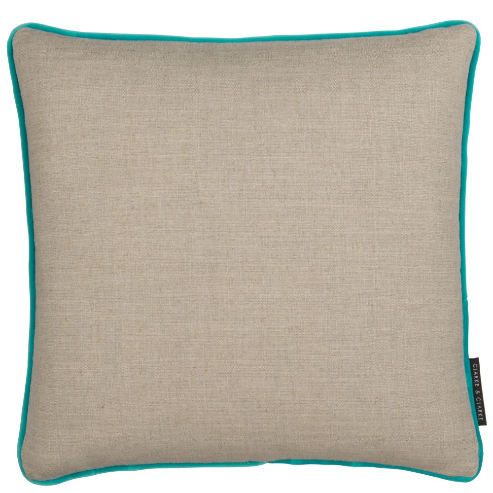 Clarke & Clarke Lindow Cushion Linen & Bluebird main image